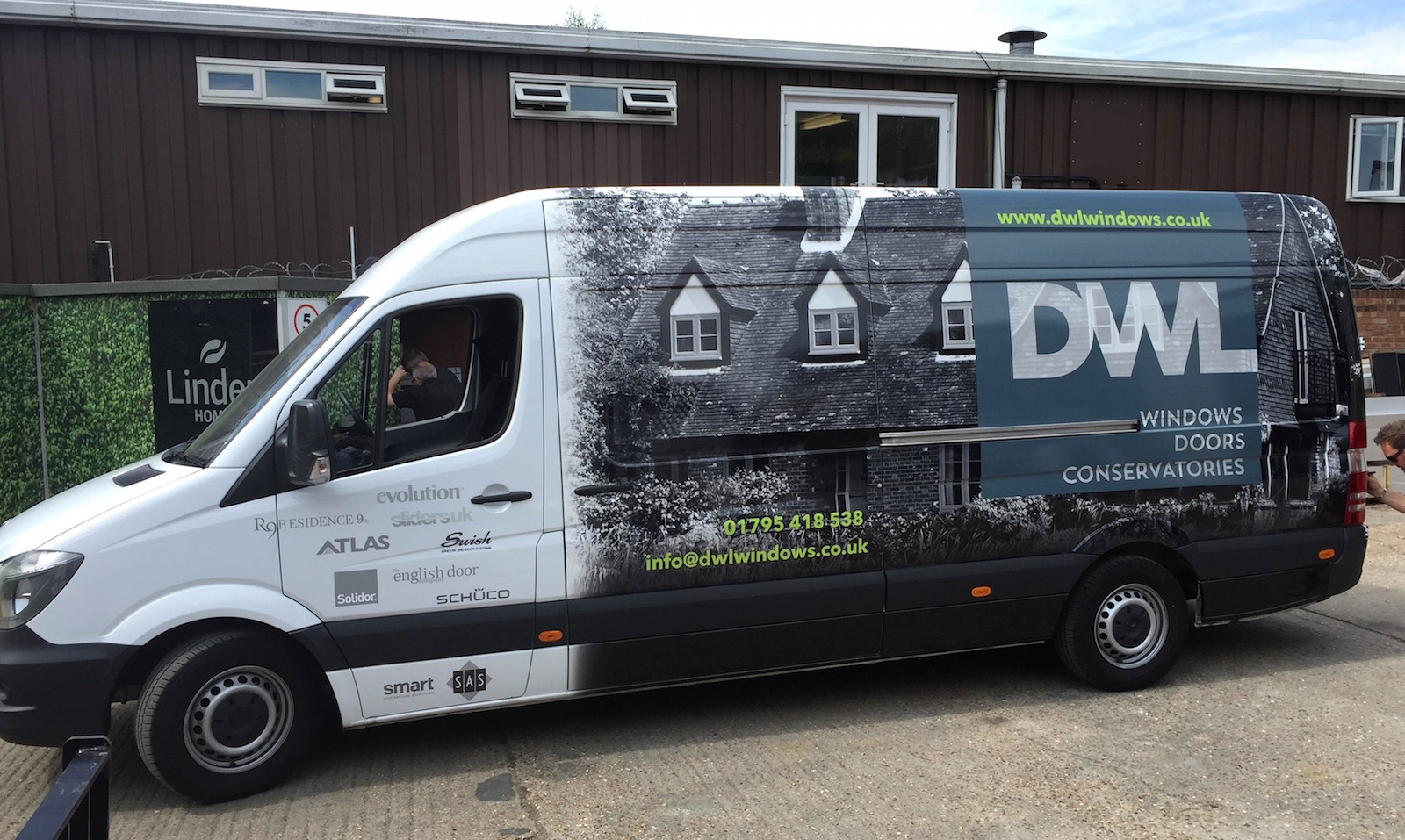 Our new van wraps dwl windows doors conservatories for Window and door company