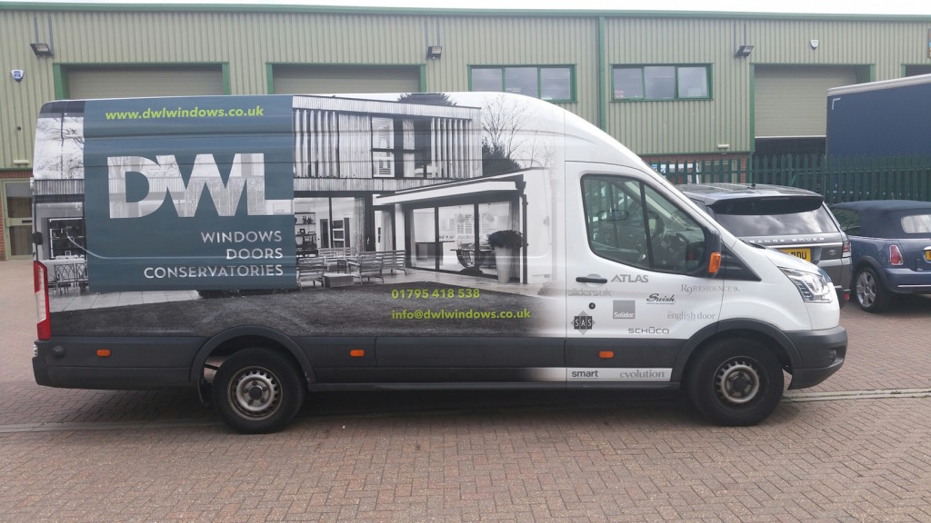 DWL Windows new work van
