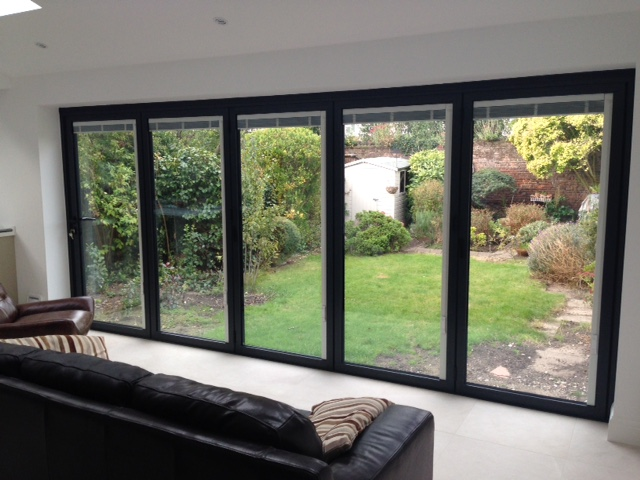 Schuco bifolding doors installed into this extension - DWL