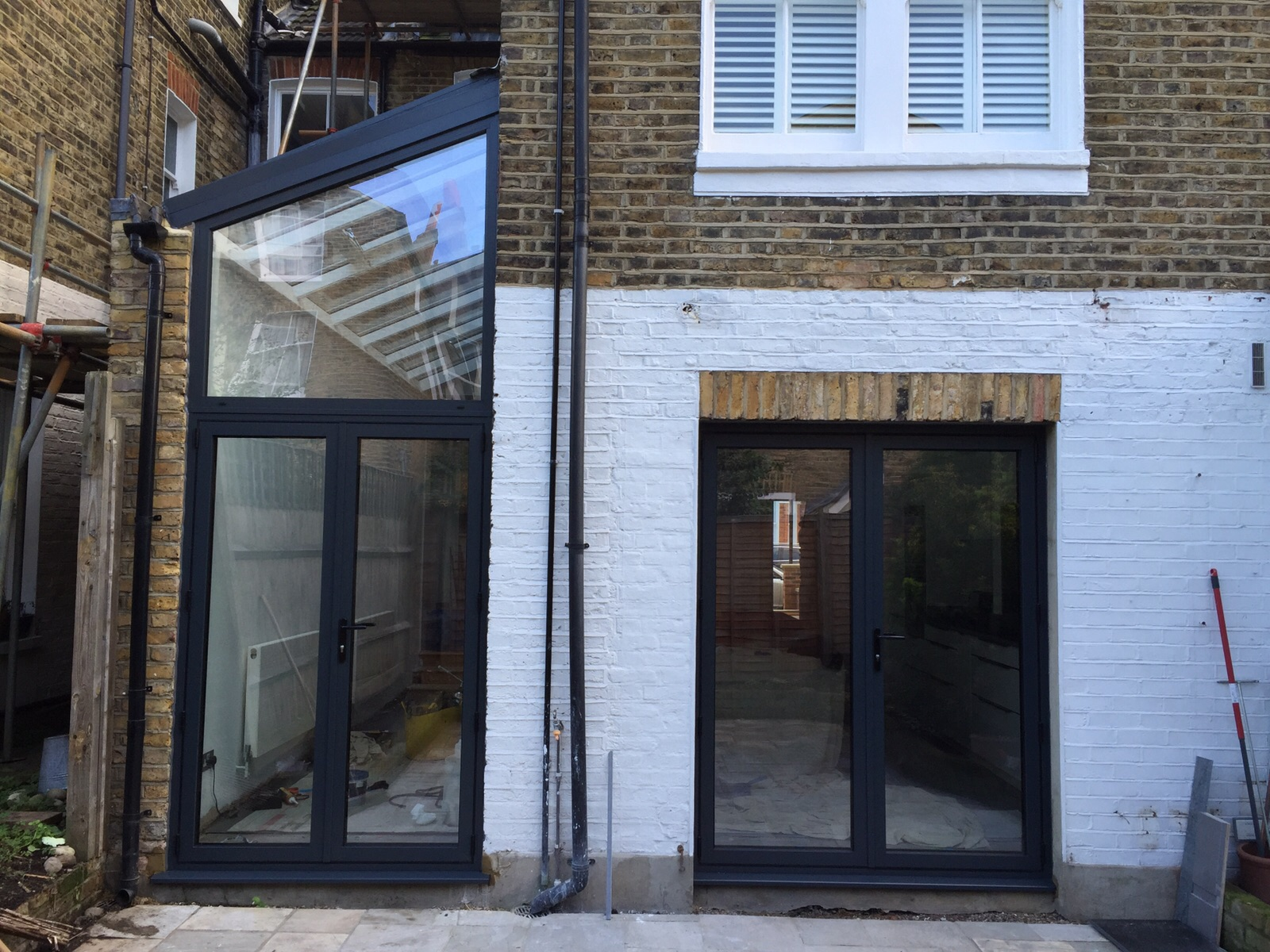 Grey Aluminium Doors And Juliette Balcony Dwl Installation