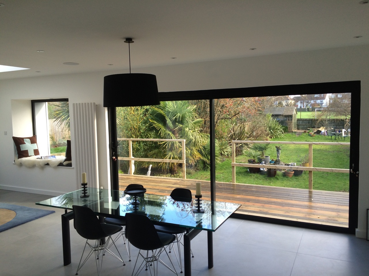 Aluminium sliding doors dwl windows doors conservatories for Black sliding glass doors