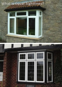 Equal sightlines double glazed windows