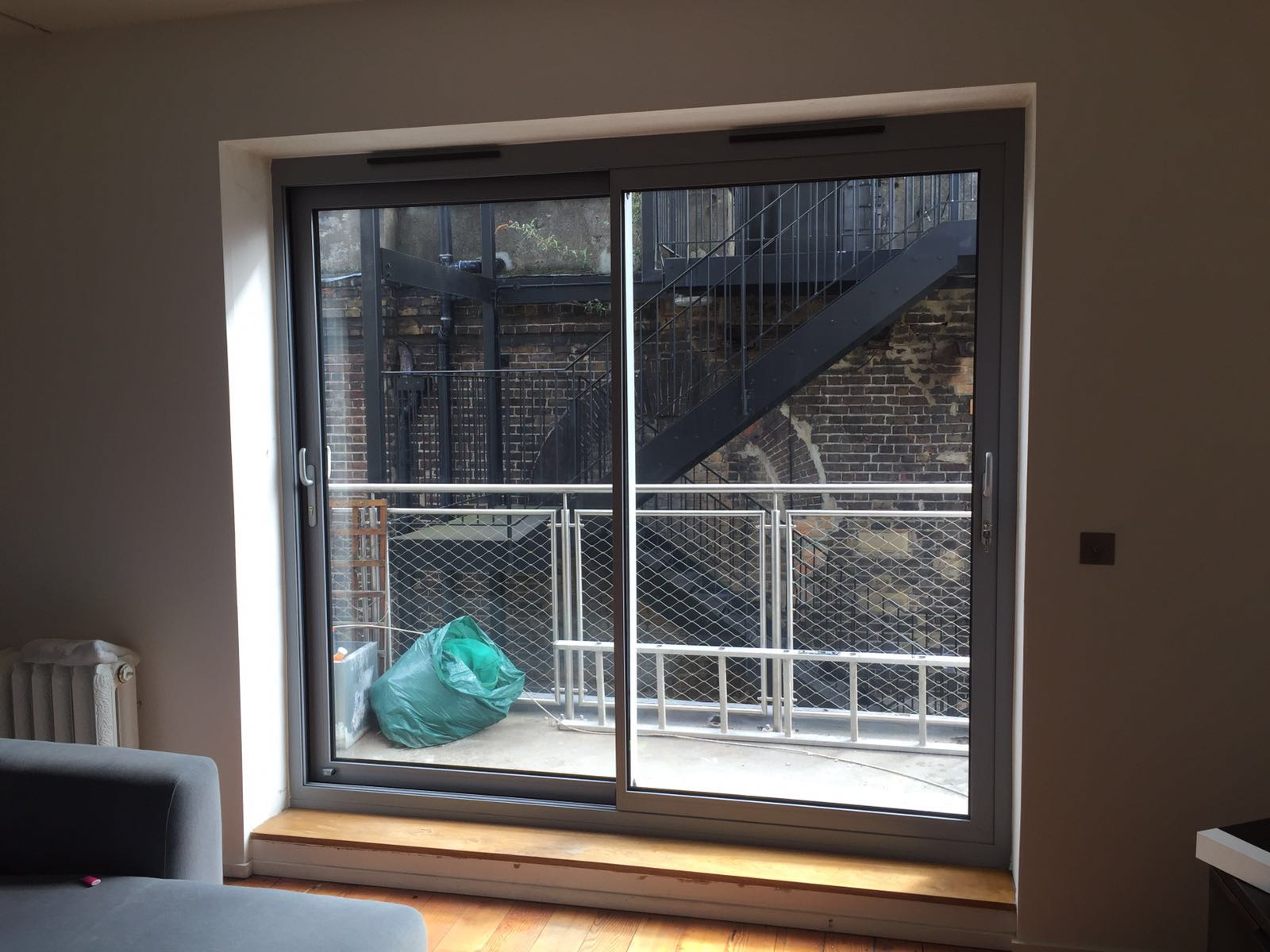 12004557195021001600 Visoglide Plus Thin Frame Aluminium Patio Doors  Installed In London #AC741F Aluminum Patio Door