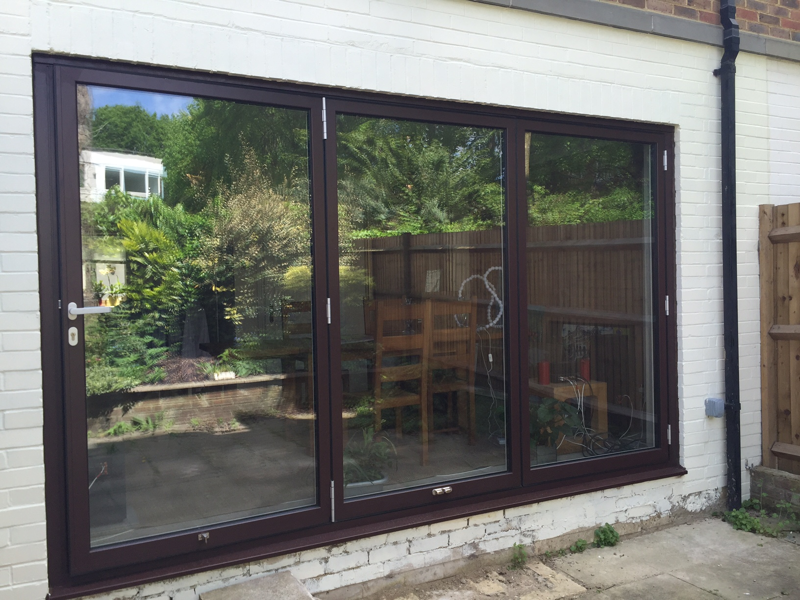 Schuco Aluminium Bi Folding Doors Installed For Kent Home