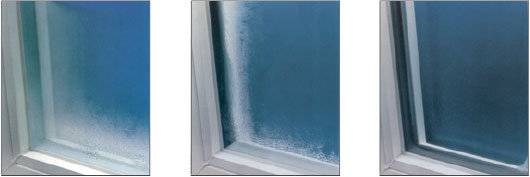 Window condensation comparison