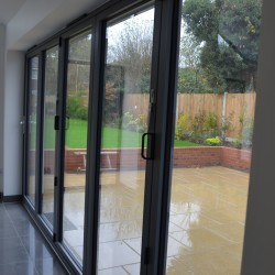 D and J after photos grey aluminium windows doors and bifolds